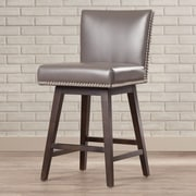 Sunpan Modern 5West Vintage 26'' Swivel Bar Stool; Grey