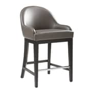 Sunpan Modern 5West Haven 26'' Bar Stool w/ Cushion; Grey