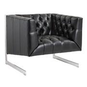 Sunpan Modern Club Viper Armchair; Black