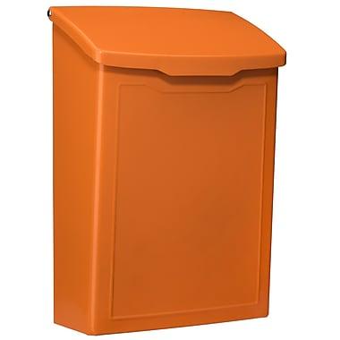 Architectural Mailboxes Marina Wall Mounted Mailbox; Orange