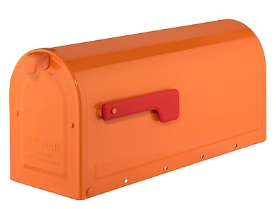 Architectural Mailboxes MB1 Post Mounted Mailbox; Orange