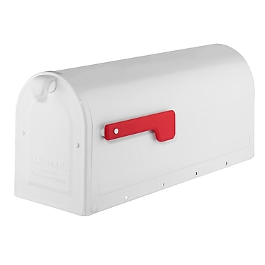 Architectural Mailboxes MB1 Post Mounted Mailbox; White