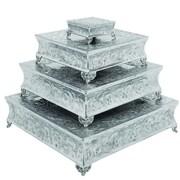 Urban Designs Event Essentials Square Wedding Cake Stand 4 Piece Set