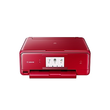 Canon - Imprimante à jet d'encre sans fil tout-en-un PIXMA TS8020, rouge
