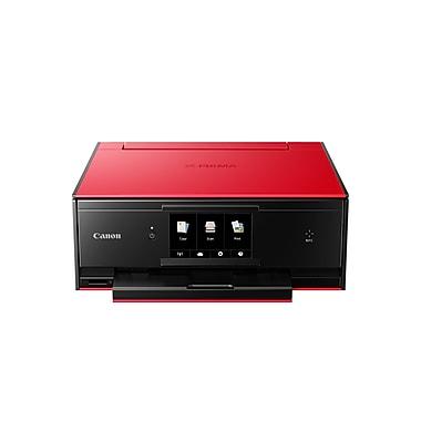 Canon - Imprimante à jet d'encre sans fil tout-en-un PIXMA TS9020, rouge