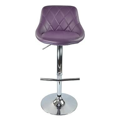 RetailPlus – Tabouret SIENA à hauteur de bar réglable, violet