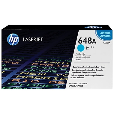 HP 648A (CE261A) Cartouche de toner HP LaserJet cyan d'origine