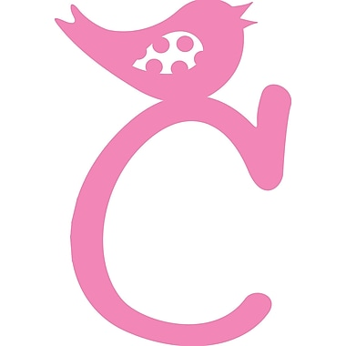 Enchantingly Elegant Letter ''C'' w/ Bird Wall Decal