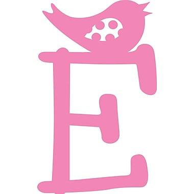 Enchantingly Elegant Letter ''E'' w/ Bird Wall Decal