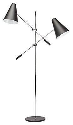 Nuevo Tivat 63'' Tree Floor Lamp; Black