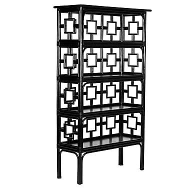 David Francis Furniture Sobe 71'' Accent Shelves Bookcase; Fire Red