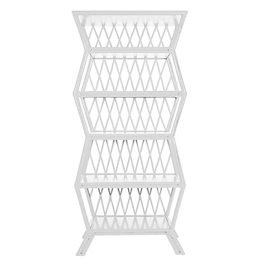 David Francis Furniture Hollywood 81'' Etagere Bookcase; Bright White