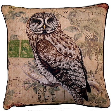 Elegant Decor Owl Throw Pillow