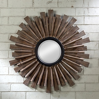 Tripar Wood Wall Mirror