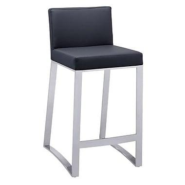 Sunpan Modern 26'' Bar Stool w/ Cushion; Black