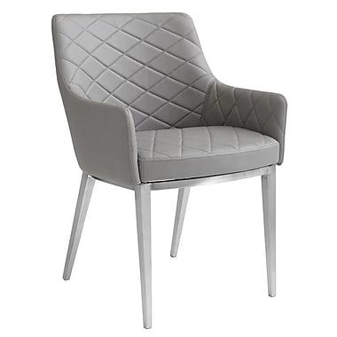 Sunpan Modern Ikon Chase Armchair; Grey