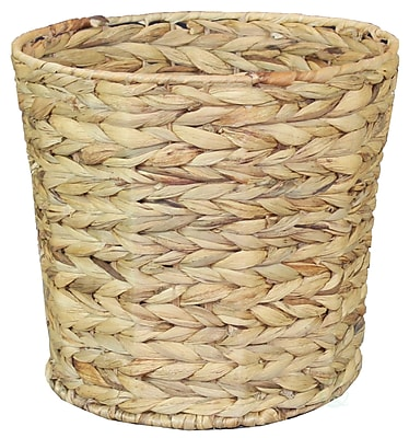 Vintiquewise Water Hyacinth 4.22 Gallon Waste Basket