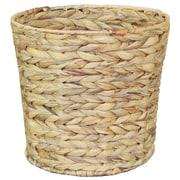 Vintiquewise Water Hyacinth 4.22 Gallon Rattan Trash Can