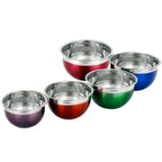 VonShef 5 Piece Stainless Steel Mixing Bowl Set