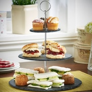 VonShef Natural Slate Serving 3 Tiered Stand
