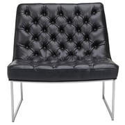 Sunpan Modern Club Toro Tufted Side Chair; Black Nobility