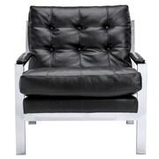 Sunpan Modern Club Court Arm Chair; Black Nobility