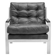 Sunpan Modern Club Court Arm Chair; Grey Nobility