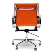 C2A Designs Lark Mid Back Leather Desk Chair; Orange