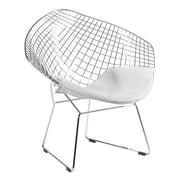 C2A Designs Bertoia Papasan Chair; White