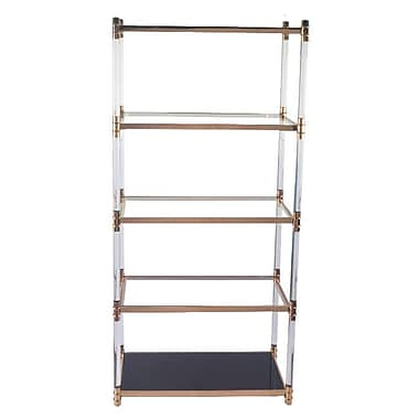 RMGFineImports Varossi 79'' Etagere Bookcase; Rose Gold