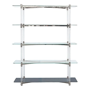 RMGFineImports Varossi 79'' Standard Bookcase; Polished Silver