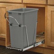 Rev-A-Shelf 8.75 Gallon Plastic Trash Can; Silver