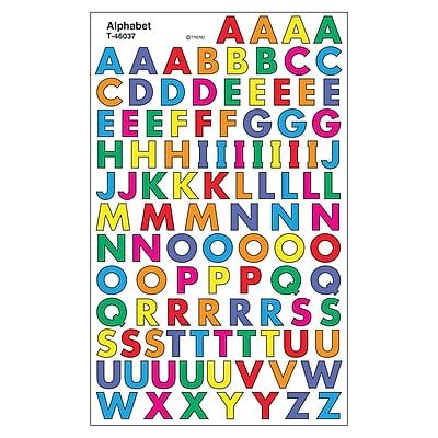 Trend Enterprises® SuperShapes Stickers, Alphabet