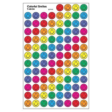 Trend Enterprises® SuperSpots® Stickers, Colorful Smiles
