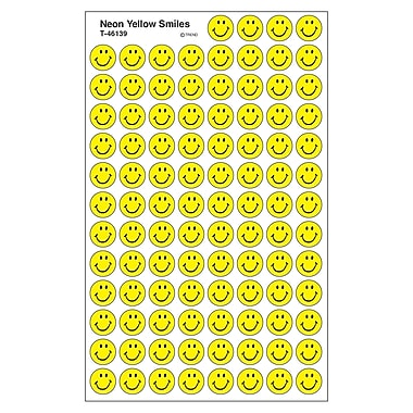 Trend Enterprises® SuperSpots® Stickers, Neon Yellow Smiles