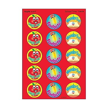 Trend Enterprises Stinky Stickers, School Time/Apple, 600/Pack (T-6418)