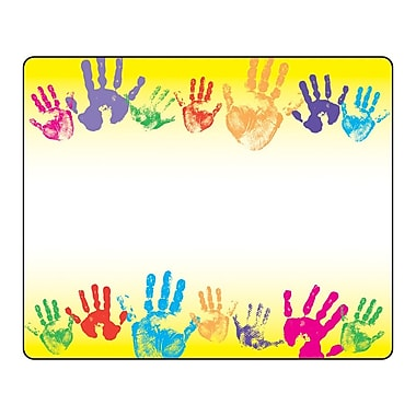 Trend Enterprises® Kindergarten - 3rd Grades Name Tag, Rainbow Handprints