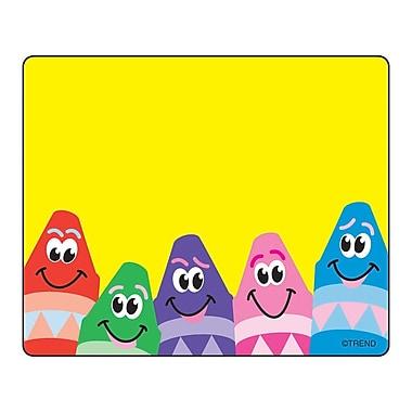Trend Enterprises® pre-kindergarten - 3rd Grades Name Tag, Colorful Crayons