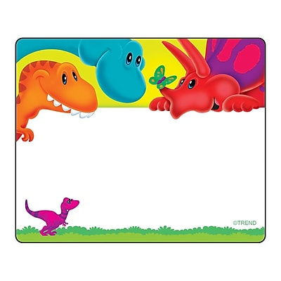 Trend Enterprises Terrific Label, Dino-Mite Pals, 8/Pack 1582449