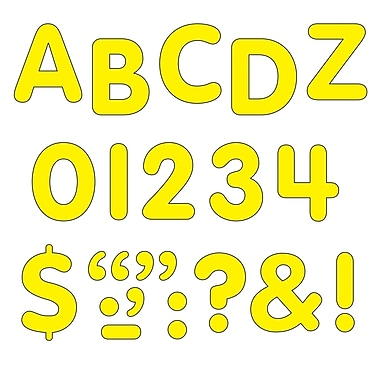 Trend Enterprises STICK-EZE® Letter, Number and Mark Set, 1