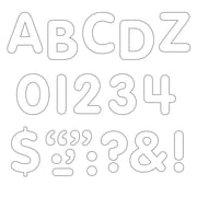 "Trend Enterprises® STICK-EZE® Letter, Number and Mark Set, 1"", White"