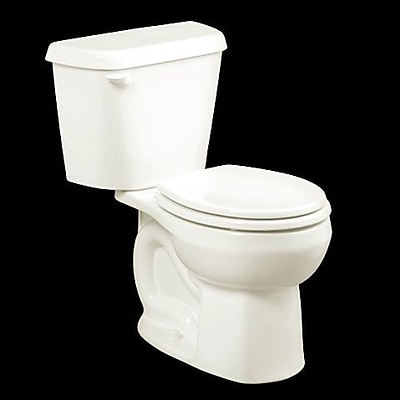 American Standard Colony 1.6 GPF Round Two-Piece Toilet; White