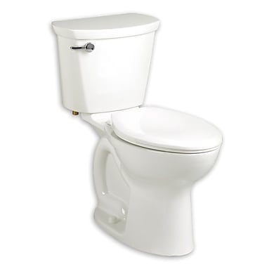 American Standard Cadet 1.28 GPF Round Two-Piece Toilet; Linen