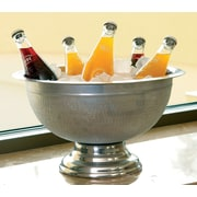 Kindwer Hammered Aluminum Pedestal Punch Bowl