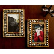 Kindwer 2 Piece Horn and Button Picture Frame Set
