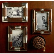 Kindwer 3 Piece Metal and Wood Picture Frame Set