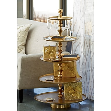 Kindwer Enormous 5-Tier Gilded Aluminum Stand/End Table