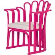 David Francis Furniture Calla Occasional Chair; Hot Pink