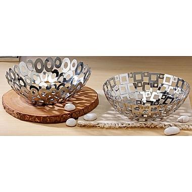 Kindwer 2 Piece Steel Welded Square and Oval Basket Set