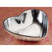 Kindwer Polished Aluminum Heart Bowl